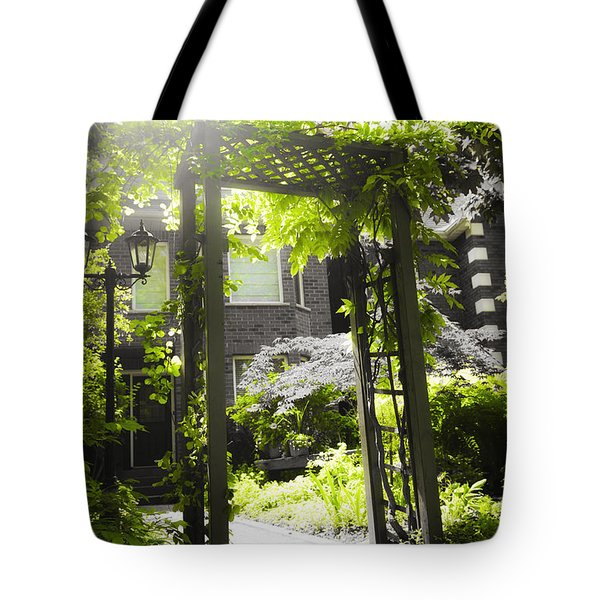 Garden Arbor In Sunlight Tote Bag by Elena Elisseeva