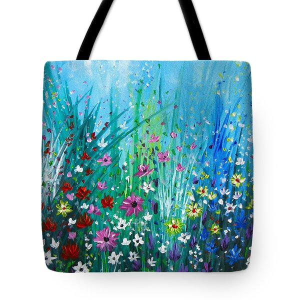 Garden At Early Morning Tote Bag by Kume Bryant