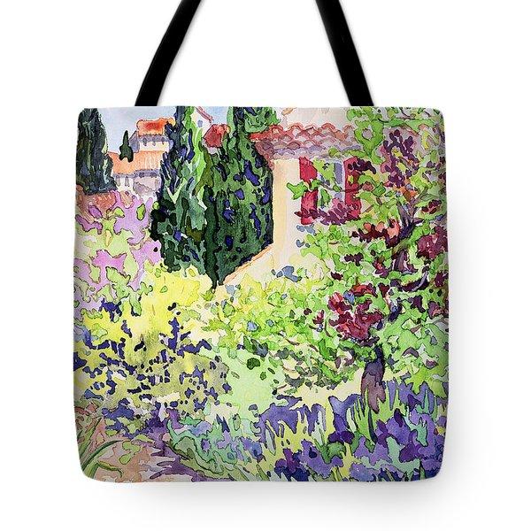 Garden At Vaison Tote Bag by Julia Gibson