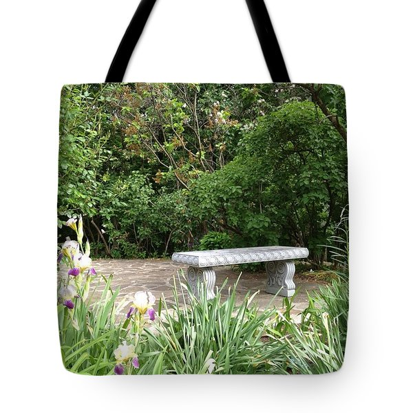 Garden Bench Tote Bag by Pema Hou