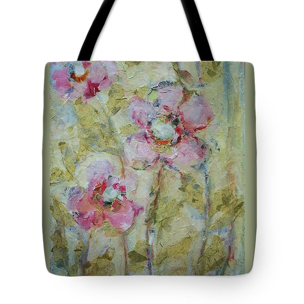 Tote Bag featuring the painting Garden Bliss by Mary Wolf