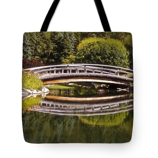 Garden Bridge Tote Bag by Linda Bianic