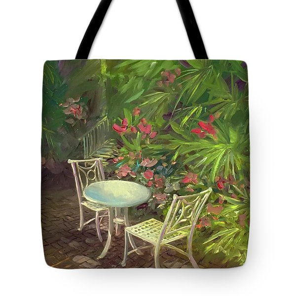 Garden Conversation Tote Bag