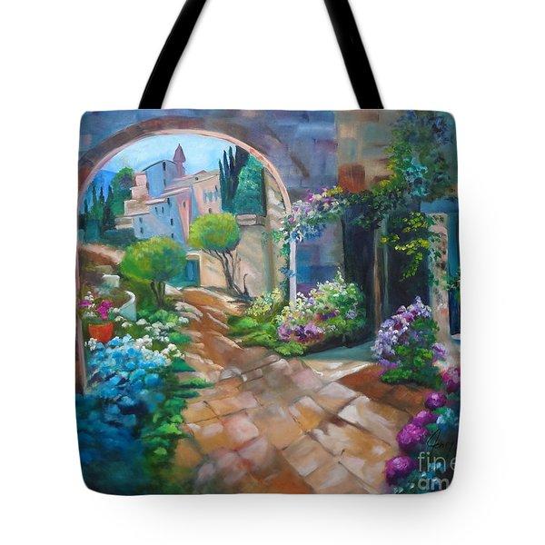 Garden Courtyard Tote Bag
