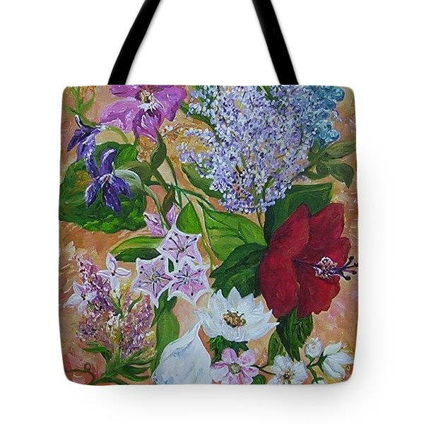 Tote Bag featuring the painting Garden Delight by Eloise Schneider