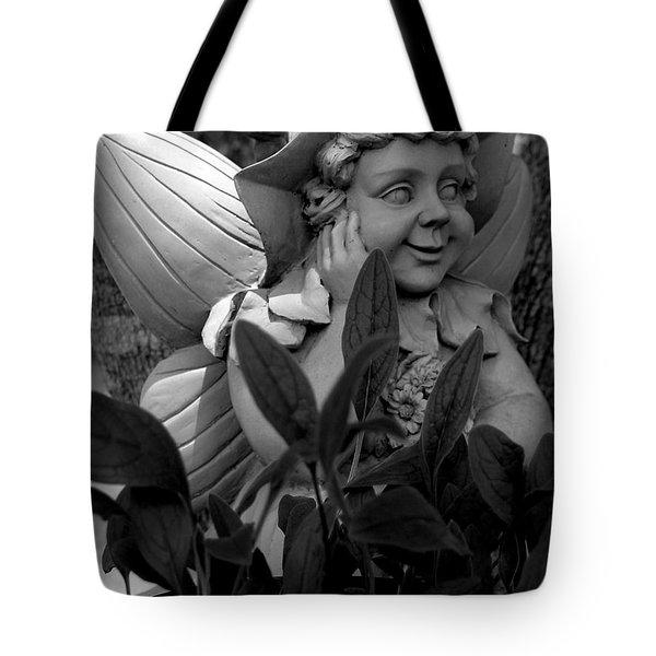 Garden Fairy Statue Tote Bag