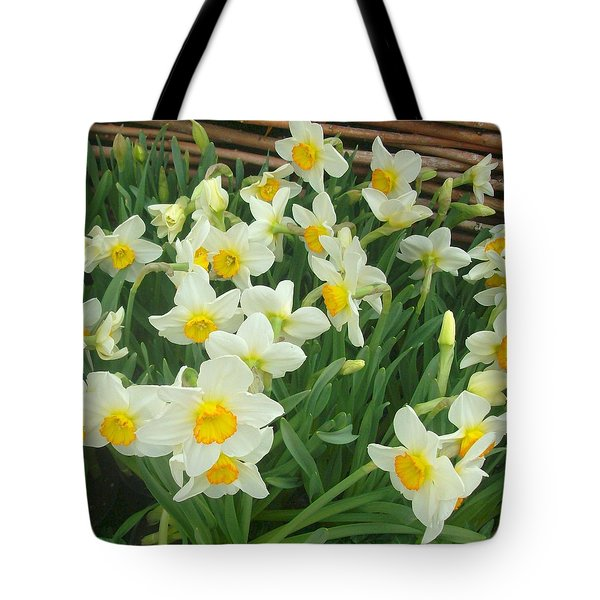 Tote Bag featuring the photograph Garden Flowers by John Glass