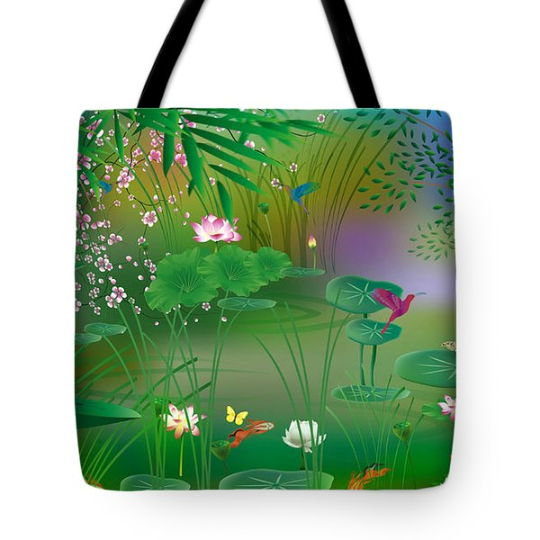 Garden - Limited Edition 1 Of 20 Tote Bag by Gabriela Delgado