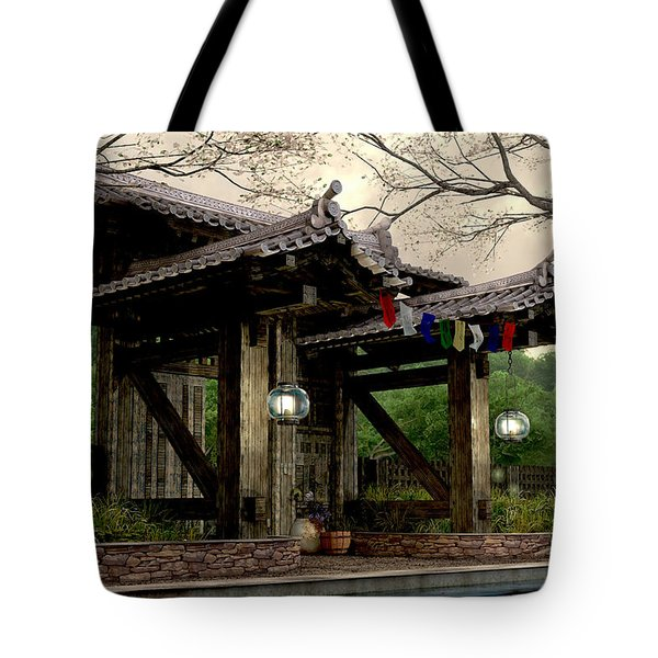 Garden Gate Tote Bag by Cynthia Decker
