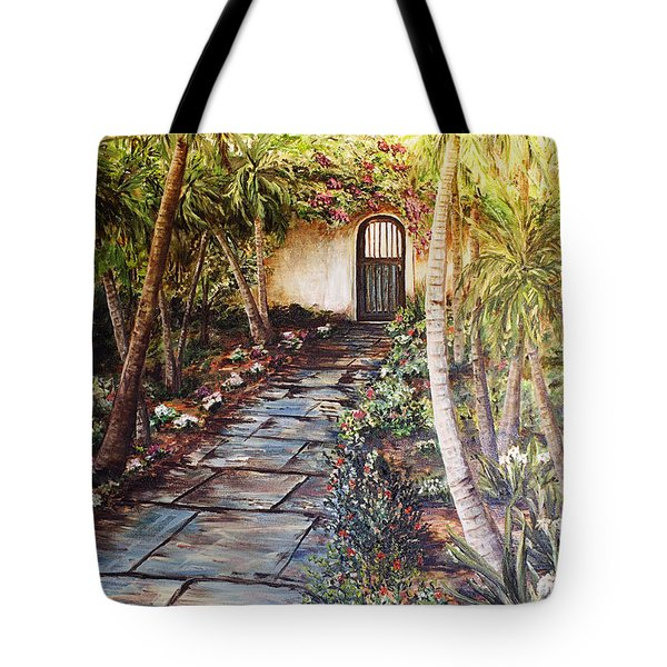 Garden Gate To Rosemary's Cottage Tote Bag
