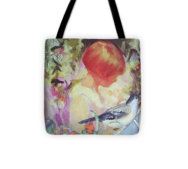 Garden Girl - Antique Collage Tote Bag by Eloise Schneider