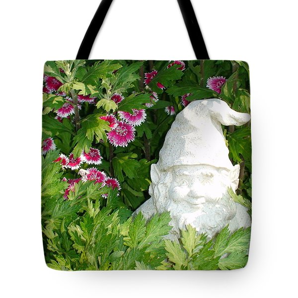 Garden Gnome Tote Bag by Charles Kraus