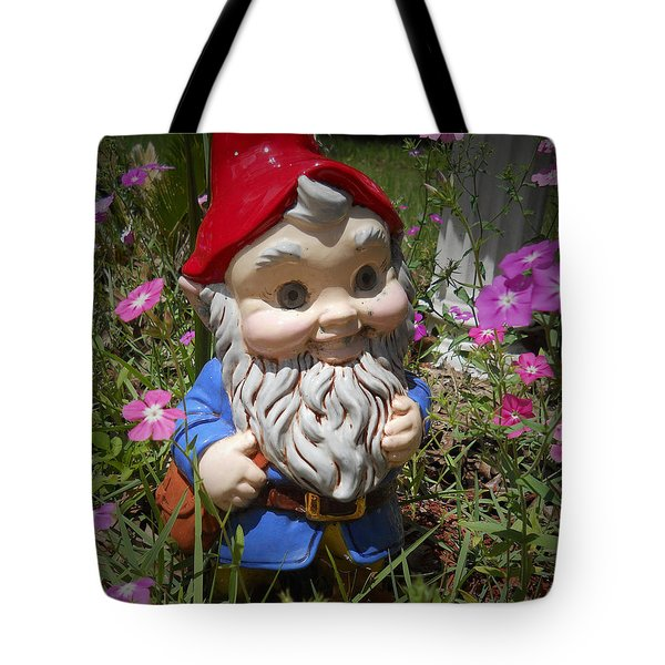 Tote Bag featuring the photograph Garden Gnome by Judy Hall-Folde