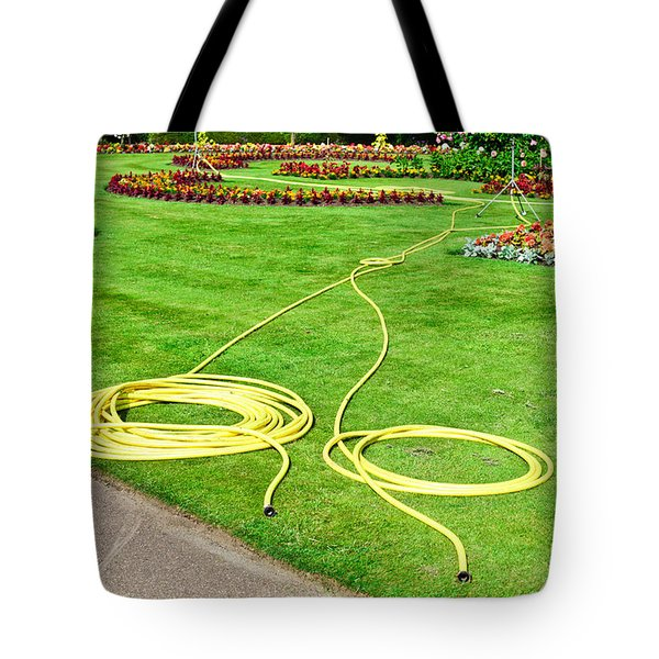 Garden Hosepipes Tote Bag by Tom Gowanlock