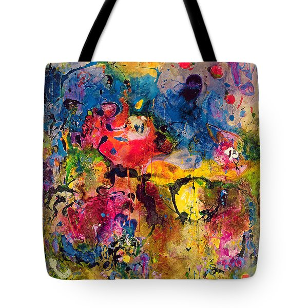 Garden Of Heavenly And Earthly Delights Tote Bag by Jane Deakin