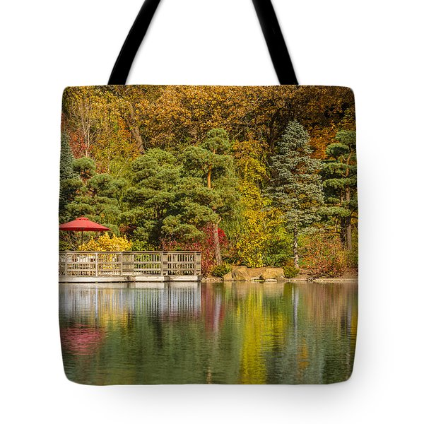 Tote Bag featuring the photograph Garden Of Reflection by Sebastian Musial