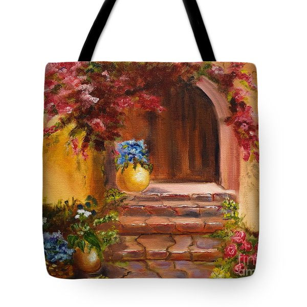 Garden Of Serenity Tote Bag by Jenny Lee