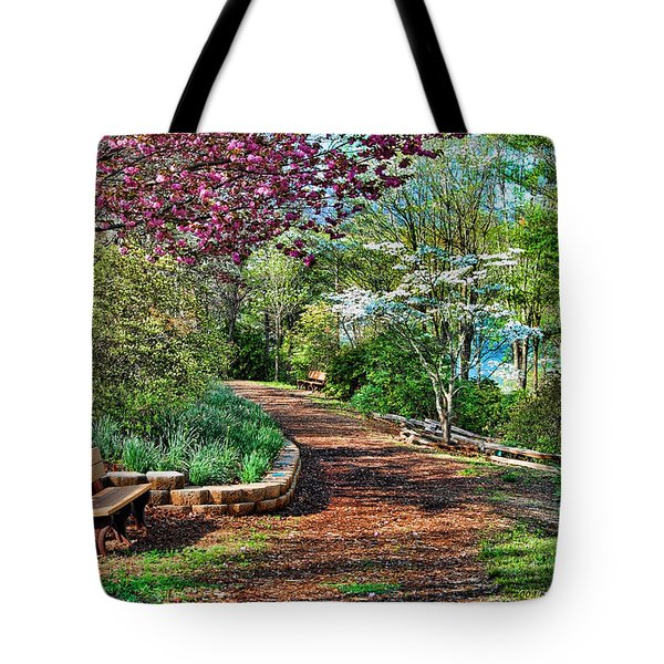 Tote Bag featuring the photograph Garden Of Serenity by Kenny Francis