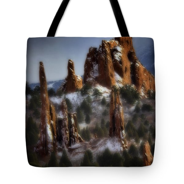 Tote Bag featuring the photograph Garden Of The Gods by Ellen Heaverlo
