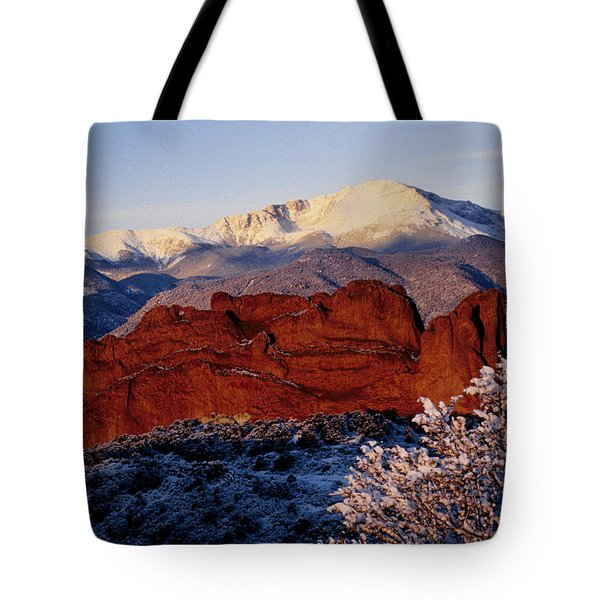 Tote Bag featuring the photograph Garden Of The Gods by Susie Rieple