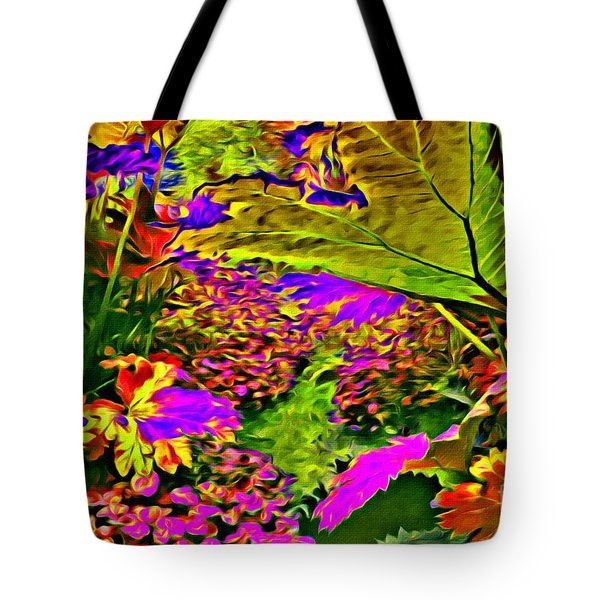 Tote Bag featuring the photograph Garden Of Color by Beauty For God