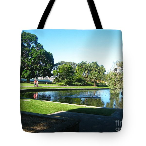 Tote Bag featuring the photograph Sydney Botanical Garden Lake by Leanne Seymour