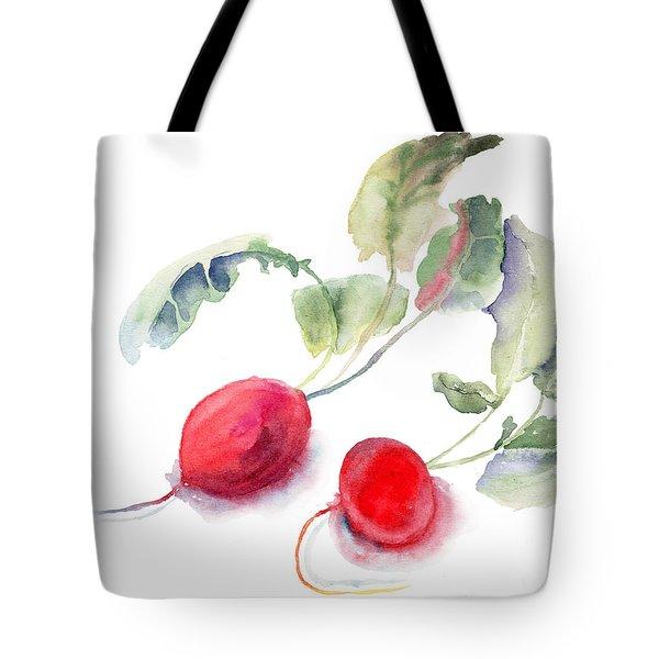 Garden Radish Tote Bag