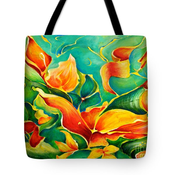 Garden Series No.3 Tote Bag by Teresa Wegrzyn