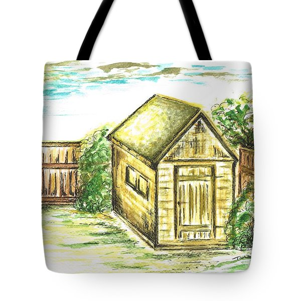 Garden Shed Tote Bag by Teresa White