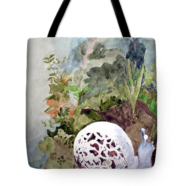 Garden Snail Tote Bag by Sandy McIntire