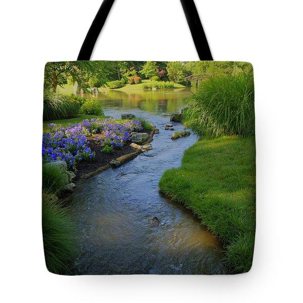 Garden Stream Hdr #9795 Tote Bag