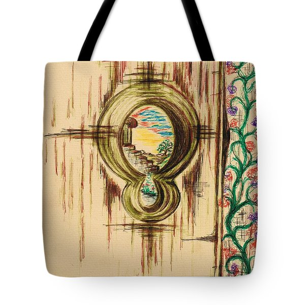 Garden Through The Key Hole Tote Bag
