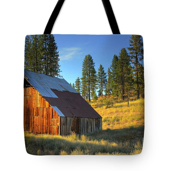 Garden Valley Barn Tote Bag