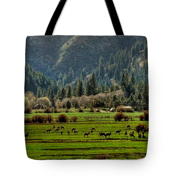 Garden Valley Elk Herd Tote Bag
