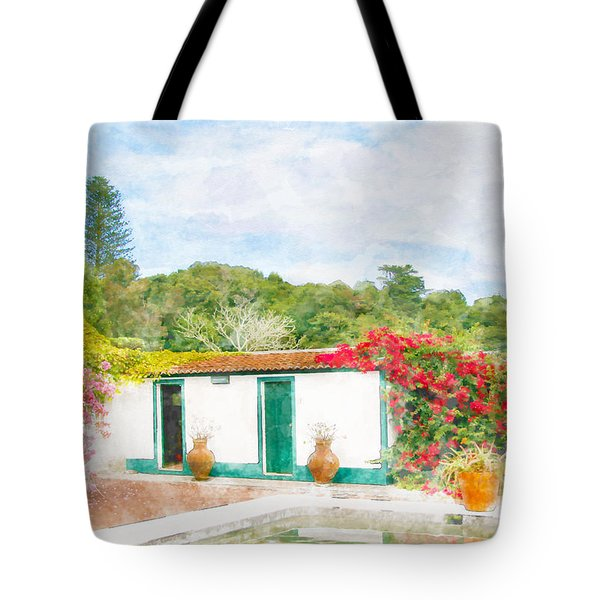 Garden Watercolor Painting Tote Bag