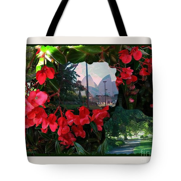 Tote Bag featuring the photograph Garden Whispers In A Green Frame by Leanne Seymour