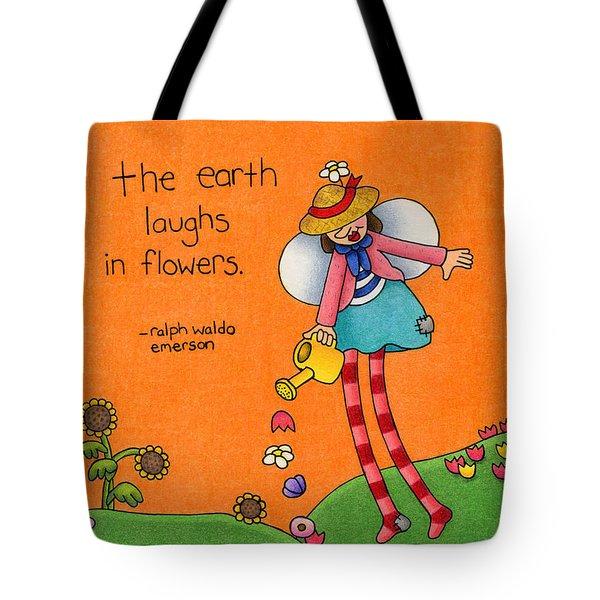 Gardener Angel Tote Bag by Sarah Batalka