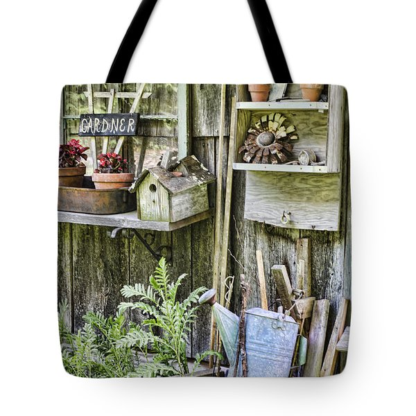 Gardener Corner Tote Bag by Heather Applegate
