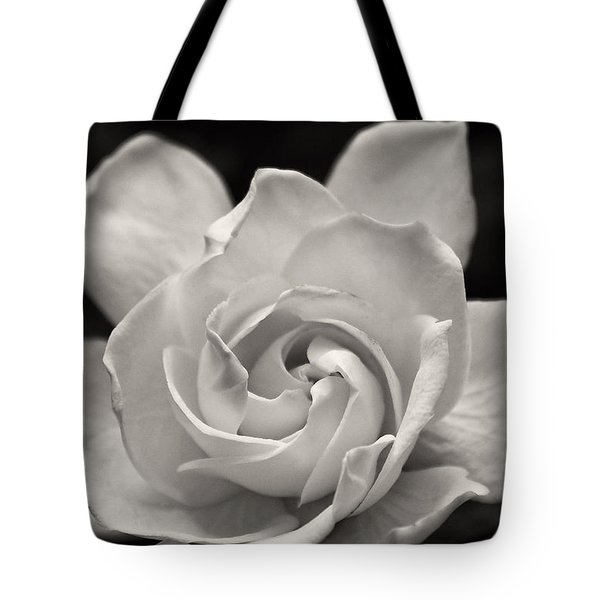 Gardenia Bloom In Sepia Tote Bag