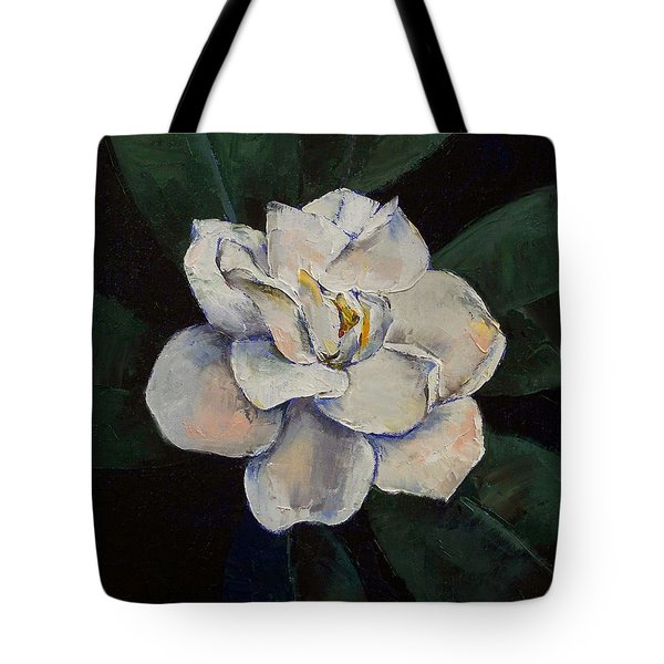Gardenia Oil Painting Tote Bag