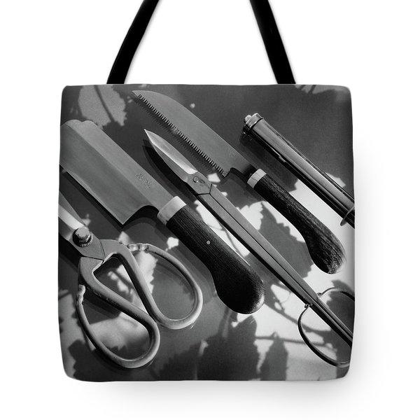 Gardening Tools Tote Bag