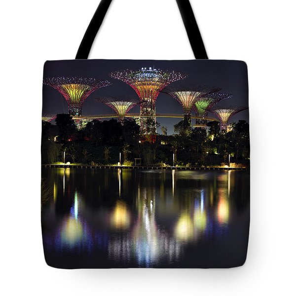 Gardens By The Bay Supertree Grove Tote Bag by David Gn