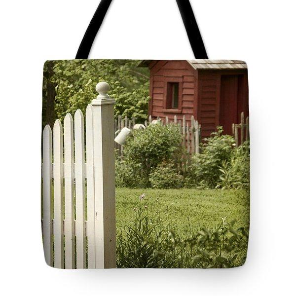Garden's Entrance Tote Bag by Margie Hurwich