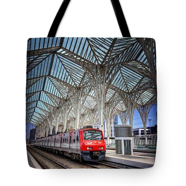 Gare Do Oriente Lisbon Tote Bag by Carol Japp