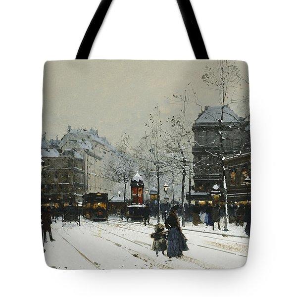 Gare Du Nord Paris Tote Bag by Eugene Galien-Laloue