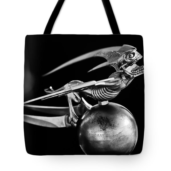 Gargoyle Hood Ornament 2 Tote Bag by Jill Reger