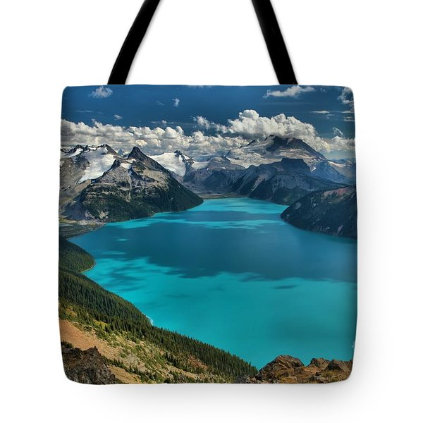 Garibaldi Lake Blues Greens And Mountains Tote Bag