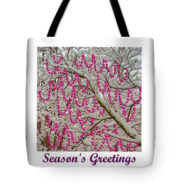 Garlands In The Snow Tote Bag