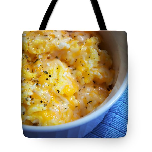 Garlic Cheesy Eggs Tote Bag by Andee Design