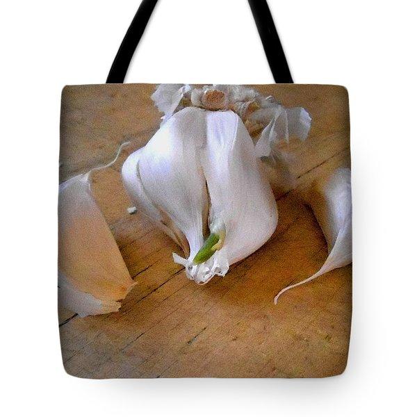 Garlic Green Tote Bag by Aliceann Carlton